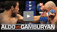 Highlights from Aldo vs. Gamburyan, Varner vs. Cerrone 2, Roop vs. Jung, Hominick vs. Garcia and Torres vs. Valencia. See it again on UFCLive.com starting Saturday or free on Versus Monday, October 4.