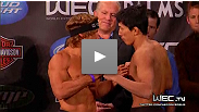 Watch the replay of the WEC: Faber vs. Mizugaki weigh-in that took place November 10th, 2010 from The Palms in Las Vegas.