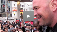 Dana heads to Toronto, presides over the UFC 129 presser, visits the launch of the UFC Octagon Nation Tour, and nearly incites a riot by giving away tickets.