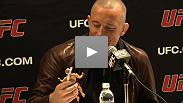 The stars talk dolls, sleep deprivation, name calling and more at the open workouts for UFC 129: St-Pierre vs. Shields.