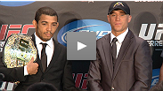 UFC® Featherweight champ Jose Aldo and challenger Mark Hominick discuss their upcoming battle at UFC® 129: St-Pierre vs. Shields.