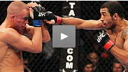 Jose Aldo kept his belt while Mark Hominick made his name in the UFC's first-ever featherweight title fight. UFC Central's experts break down what was Fight of the Night at the biggest event in UFC history.