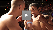 UFC® Featherweight Champion Jose Aldo and challenger Mark Hominick weigh in before their title fight in Toronto.