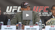 Former champions Randy Couture and Lyoto Machida talk about their matchup of conflicting styles at UFC® 129: St-Pierre vs. Shields.