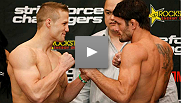 STOCKTON CHALLENGERS WEIGH-IN VIDEO - All 10 fighters on tomorrow's/Friday's SHOWTIME® telecast of the STRIKEFORCE Challengers event at Stockton Arena in Stockton, Calif. made weight Thursday.