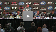 Dana White, Tom Wright, Georges St-Pierre, Jake Shields, Jose Aldo, Mark Hominick, Randy Couture and Lyoto Machida talk to the media about the biggest UFC event ever to take place.