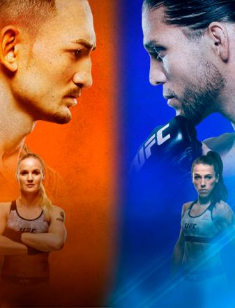 UFC 231 Holloway x Ortega No Combate