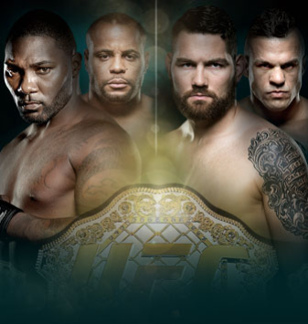 UFC 187 Jones vs. Johnson No Combate