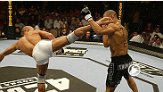 Georges St-Pierre makes an impressive statement in hoi second fight inside the Octagon™ by making short work of Jay Hieron.