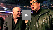 Follow Dana behind the scenes at UFC 129 - hear what he said to Nick Diaz, Steven Seagal, Rashad Evans and more.