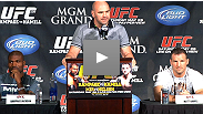 Fight week gets off to a rousing start with a highly entertaining press conference: Hear about Rampage's peacock painting, Roy Nelson's home-burger advantage, Frank Mir's game plan for fighting his wife and more.