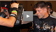 At open workouts, Brian Stann, Jorge Santiago, Miguel Torres and Rick Story show off the skills that landed them on the  blockbuster Memorial Day fight card at UFC 130.