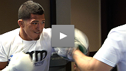 Go hard or go home! Anthony Pettis and Clay Guida work out for the media as they prepare for their high-octane lightweight clash at The Ultimate Fighter Finale this Saturday night.