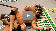 Clay Guida gets his first win in the Octagon™ by submitting Justin James with a Rear Naked Choke.