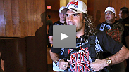 Anthony Pettis and Clay Guida wade through fans as they make their way to The Pearl for their big bout tonight.