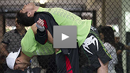 Heavyweight headliners Dos Santos and Carwin show off their power before a bout unlikely to go the distance... plus featherweights Diego Nunes and Kenny Florian demonstrate diverse talents preparing for what could be a fifteen-minute thriller.
