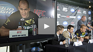Dana White, Junior dos Santos, Kenny Florian, Mark Munoz, Dave Herman, Donald Cerrone and Sam Stout answer questions after UFC 131.