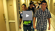"""I'm here to give the fans a show."" Dominick Cruz and Urijah Faber arrive at the MGM Grand Garden Arena for their headlining bout at UFC 132."