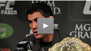 Bantamweight champ Dominick Cruz and Urijah Faber talk about the re-match four years in the making at the uFC 132 post-fight presser.