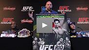 Dana White, Anderson Silva, Yushin Okami, Forrest Griffin, Shogun Rua, Minotauro Nogueira and Brendan Schaub at the UFC Rio pre-fight press conference.