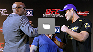 UFC® RIO Pre-Fight Press Conference at the Copacabana Palace Hotel on Thursday, August 25, 2011 in Rio de Janeiro, Brazil (Photos by Josh Hedges/Zuffa LLC/Zuffa LLC via Getty Images)