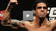 After stopping veteran Spencer Fisher, an emotional Thiago Tavares dedicates his big win to his home country of Brazil, and explains how, win or lose, his goal is always to make his fights exciting.