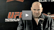 Dana White, Anderson Silva, Shogun Rua, Minotauro Nogueira and Forrest Griffin speak at the UFC Rio post-fight press conference.