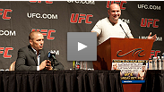 Dana White and Georges St-Pierre at the UFC® 137 Special Press Conference.