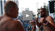 Two tough-as-nails middleweights come face-to-face before their main card fight tomorrow night - watch TUF winner Court McGee return to the Octagon to battle Korean finisher Dongi Yang.