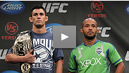 UFC bantamweight champion Dominick Cruz and challenger Demetrious Johnson take questions from the media in Washington, DC in the days before the title fight on Versus.