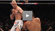"""I'm used to the pain."" A happy Stefan Struve used his long limbs to submit Pat Barry via triangle choke. The man known as ""Skyscraper"" shares his thoughts on the victory."