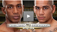 Two UFC newcomers square off in this preliminary bout.  Walel Watson has finished all of his professional wins and will enjoy a significant reach advantage in this fight.  However, we do not expect the young but determined Joseph Sandoval to be deterred.