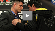 Before their war in the Octagon Saturday at UFC 136, Chael Sonnen and Brian Stann wage a battle of wits at the pre-fight press conference. May best one-liner win.