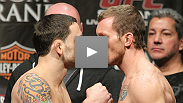 Watch UFC 136 fighters weigh in at the Toyota Center in Houston, TX.
