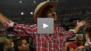"""This is the big show."" Donald ""Cowboy"" Cerrone visits the PBR World Finals, and explains why he loves the cowboy way of life."