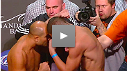 UFC 137 headliners BJ Penn and Nick Diaz come face to face (and nearly fist to fist) at the official weigh-in.