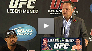 Full UFC 138 pre-fight press conference from Birmingham, England with Chris Leben, Mark Munoz, Brad Pickett, Renan Barao and Marshall Zelaznik.