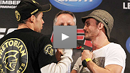 Two of the most talented fighters in the bantamweight division talk about extending their win streaks Saturday night. Hear from Brit Brad Pickett and Brazilian Renan Barao at the UFC 138 press conference.