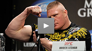 """I'm back, and I feel good!"" See the UFC 141 ticket on-sale press conference with Brock Lesnar and Alistair Overeem."