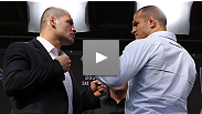 """The fans can expect a war."" Heavyweight champion Cain Velasquez and challenger Junior dos Santos discuss their upcoming bout at the UFC® on Fox pre-fight press conference."