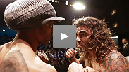 The most exciting fighters in the most talented division come face-to-face at the UFC on FOX weigh-in: See the staredown between Clay Guida and Benson Henderson.