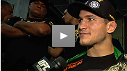 Junior dos Santos tries to describe how amazing it is to be the UFC heavyweight champion after years of buildup and 64 seconds of battle.