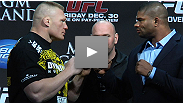 Brock Lesnar returns in fine form and Alistair Overeem can't wait to welcome him back into the Octagon. See the highlights from the November 11 UFC 141 press conference.