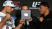 UFC 139 pre-fight press conference at the Fort Mason Center on November 17, 2011 in San Francisco, California.  (Photos by Zuffa LLC/Zuffa LLC via Getty Images)