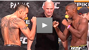 Watch the official weigh-in for the TUF 14 Finale featuring Michael Bisping vs. Jason Miller, Diego Brandao vs. Dennis Bermudez, T.J. Dillashaw vs. John Dodson and more.