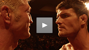 "TUF 14 coaches Michael Bisping and Jason ""Mayhem"" Miller face off at the weigh-in for the finale, but even after all this time together, they still don't get along."