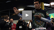 Light heavyweight champion Jon Jones and former champ Lyoto Machida dazzle the crowd at the open workout for UFC® 140.
