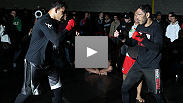 They're brothers, identical brothers, and they're coming to Canada to defeat some legends. See Rogerio Nogueira (beard) and Minotauro Nogueira (no beard) show their stuff at open workouts.