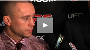A disappointed Mark Hominick talks to the media about his shocking loss to Chan Sung Jung at UFC® 140.