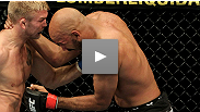 Alexander Gustafsson uses vicious Ground and Pound to set up a rear naked choke against Cyrille Diabate at UFC® 120.